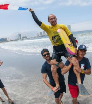 Amaury Laverhne, ambassadeur de l'Association Nationale Handi-Surf