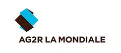 Logo d'ag2r la mondiale, partenaire de la maison des aidants