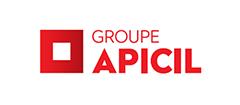Logo du groupe apicil, partenaire de la maison des aidants